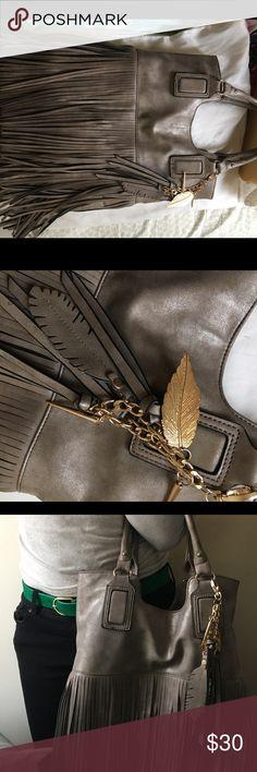 Pewter Fringe Purse Beautiful pewter fringe purse. Fashion statement piece. Lightly used Aldo Bags Shoulder Bags
