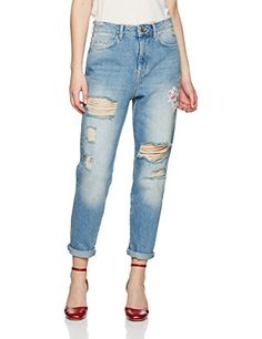 New Look Women's Floral Straight Jeans, Blue (Mid Blue), ... https://www.amazon.co.uk/dp/B01MYETKRC/ref=cm_sw_r_pi_dp_x_Sn74ybFB1QQ3A