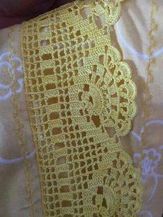 Ravelry: Filetstueck's Handkerchief / hanky in filet-crochet with scalloped edge Crochet Boarders, Crochet Edging Patterns, Crochet Lace Edging, Crochet Motifs, Crochet Diagram, Crochet Squares, Thread Crochet, Crochet Trim, Love Crochet