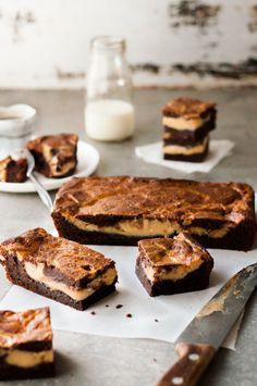 foodinvertical: royal-food: Salted Caramel Stuffed Brownies +