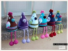 Hii Häkelfans, with me the wild chickens are going on. But it is also a pla . : Hii Häkelfans, with me the wild chickens are going on. But it is also a plague with them. As soon as you have finished one, you already have new … Crochet Amigurumi, Amigurumi Toys, Crochet Toys, Knit Crochet, Free Knitting, Knitting Patterns, Crochet Patterns, Wild Animals List, Wild Chicken