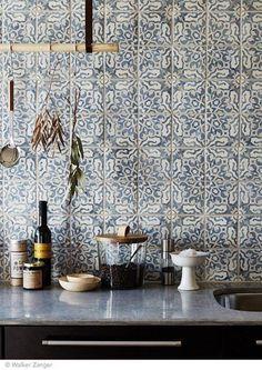 azulejo portugus na decorao 60 fotos inspiradoras - Kche Backsplash Ubahn Fliesen Designideen