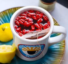 Beverages Recipe: Goji Lemon Tea: The First Thing I Drink Every Morning.