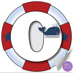 Wall Letters o Nautical Ocean Sailing Custom Letter Children's Nursery Baby's Room Baby Name Boys Bedroom Decor Alphabet Initial Vinyl Stickers Decals Kids Decorations Decal Boat Whale Anchor Girls Kids Stickers, Wall Stickers, Sticker Vinyl, Nautical Letters, Sailor Birthday, Nautical Party, Monogram Alphabet, Sea Theme, Letter Wall