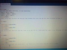 The code for the morse code video!