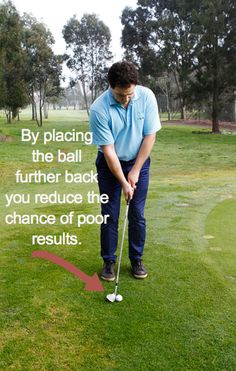 Where you place the ball in your stance has a big effect on your golf chipping. Learn how to set up better for chipping and get up and down around the greens more often. How to Practice Chipping Inside. golf chipping tips Womens Golf Wear, Golf Chipping Tips, Golf Putting Tips, Golf Instruction, Golf Channel, Golf Lessons, Play Golf, Ladies Golf, Golf Tips