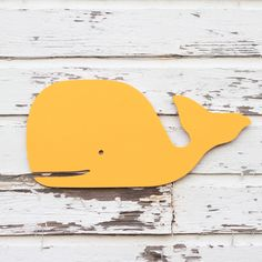 Large, preppy wooden whale sign, Beach sign, Nursery wall, Coastal sign, Kids wall, choose your color. $69.00, via Etsy.