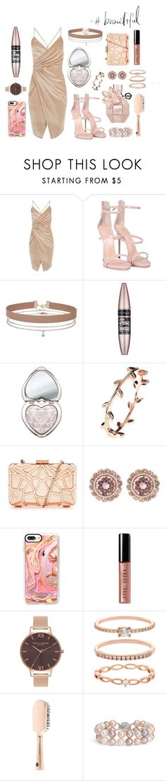 """""""Beautiful Night Out"""" by lauraaaaahhh ❤ liked on Polyvore featuring Boohoo, Giuseppe Zanotti, Miss Selfridge, Maybelline, Too Faced Cosmetics, Latelita, Ted Baker, Casetify, Bobbi Brown Cosmetics and Olivia Burton"""