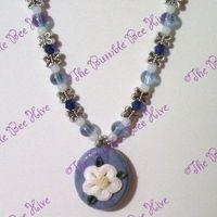Polymer Clay Simple Petunia Necklace