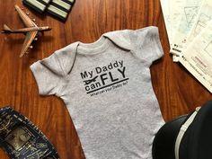Baby Bandana Bib Pilot funny Keep Calm my Daddy // Mummy is a ..
