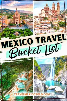 Mexico is more than beaches & margaritas. Sure, that exists, but this is a HUGE COUNTRY, and there's so many more hidden gems, off the beaten path travel desinations just waiting to be crossed off your bucket list! Learn about the 25 Unique Places to Visit in Mexico You've Probably Never Heard Of in this article. | Mexico travel guide | Mexico vacation | Mexico dream destinations | Mexico off the beaten path | Travel bucket list | Underrated Mexico | Mexico hidden gems Best Mexico Vacations, Mexico Vacation Destinations, Mexico Travel, Vacation Trips, Travel Destinations, Arizona Travel, Oregon Travel, California Travel, Budget Travel