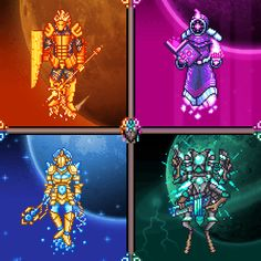 What if the Celestial Pillars were bosses? - Terraria Terraria Memes, Terraria Tips, Terraria House Design, Terraria House Ideas, Retro Video Games, Video Game Art, Rwby, Weird Pictures, Anime Art Girl
