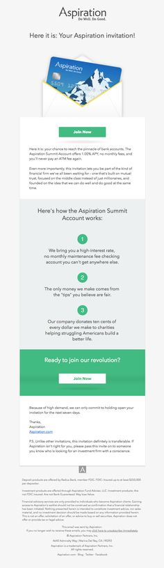 Here it is: Your Aspiration invitation! - Really Good Emails