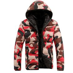 Camouflage Hooded Zipper Jacket (3 colors)