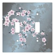 Rippling Tropical Blue Water Light Switch Cover | Zazzle.com Cherry Flower, Blue Cherry, Cherry Blossoms, Rose Gold Lights, Glass Ceiling Lights, Greyish Blue, Water Lighting, Custom Lighting, Light Switch Covers