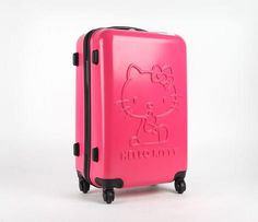 """Hello Kitty 24"""" Suitcase: Pink Classic"""