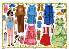 Anne, a Swedish paper doll | Origami Bears