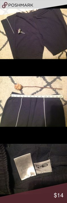Athletic pants. Coming soon with more pics! Dark gray with white stripe down pant legs. Lightly worn, has small dark spot on pant leg mark in the first pic. Check out the pics it also has measurements. If you would more info or another pic please let me know. It's very important that you are very happy with all of my items before and after purchase. Thanks for looking! God bless, love, light, and peace to all. 🕊 althelic works Pants