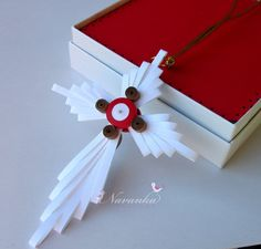 Lovely cross ornament perfect for Christmas. For self use and gift giving. Two different designs in the front and back.