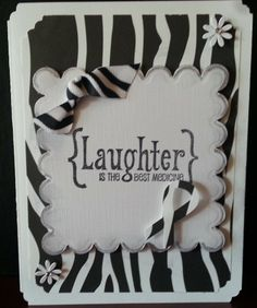 """All proceeds from this card (Zebra Awareness) will be donated to NeuroEndocrine/Carcinoid Cancer Research.This card can be used for any occasion. There is room inside so you can add your personal sentiment. Finished card is 6 1/2 x 5 inches. $5.00 Cdn The Zebra Story WHY IS THE ZEBRA OUR MASCOT? In medical school, doctors are taught """"when hearing hoofbeats, think horses, not zebras."""" Carcinoid Cancer & Neuroendocrine Tumors has been thought of as 'rare' and therefore may be considered a…"""