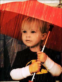 Little Boy In  the Rain