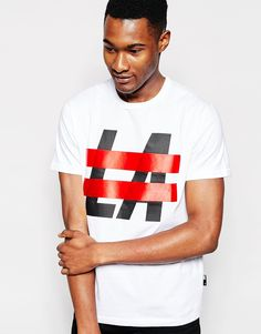 """Print T-shirt by Izzue Cotton jersey Crew neck Printed design Regular fi t- true to size Hand wash 100% Cotton Our model wears a size Medium and is 188cm/6'2"""" tall"""