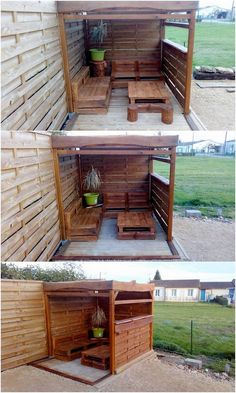Such an outstanding looking piece of garden furniture has been build up right into the custom use of the material about the wood pallet. Planks have been put into the arrangement over the shed work where the extra use. You will be finding it so catchier for your house beauty.