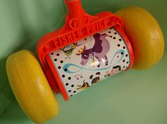 Fisher Price Musical Push Toy, 1963-Vintage Fisher Price Toys on Etsy, $10.00