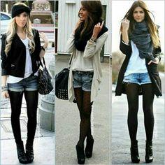 Instagram media by azevedo.carlinha - ✔ O short jeans peça chave do verão é prático, versátil e democrático, vai bem com camisa, blazer, t-shirt, cardigan, etc. Para você continuar usando agora no outono/inverno, combine com meia calça, botas #otk, ankle boots ou coturnos para um look despojado e atual!! ✔ - - - - - - - - - - - #looksparainspirar #euamojeans #minspira#inspiration #moda#modaemgrupo#modaparamulheres#modafeminina#style#mood#lookemgrupo #fashion#fashionista#ootd#9as18#looksami