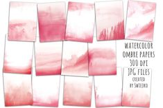 Ad: Watercolor ombre background by swiejko on Watercolor Digital Paper Ombre Watercolor Background - blush watercolor washes Set of 14 romantic handpainted digital papers, ideal for Ombre Background, Paint Background, Watercolor Background, Textured Background, Watercolor Paper Texture, Watercolor And Ink, Watercolor Flowers, Site Website, Texture Photography