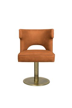 Each spring from 1866 to 1885 cowboys drove from the Texas ranges to railheads in Kansas. KANSAS Swivel Dining Chair, in synthetic leather, is a tribute to their courage.