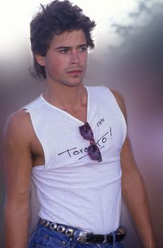 Rob Lowe....(Talia and Kim...Jason's growing his hair out for the winter again...should I make him retake this pic? LOL)