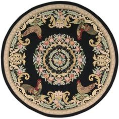 Everywheres hand hooked country style area rug, 70-Percent Polyester, 21-Percent Acrylic, 8-Percent Wool.
