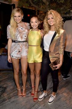 Singer Kelsea Ballerini, dancer Maddie Ziegler, and singer Tori Kelly attend PEOPLE's Ones To Watch Event on September 16, 2015 in West Hollywood, California.