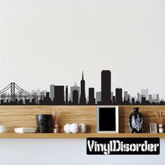 San Francisco -Skyline Decals, City Skyline Wall Decals