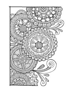 Abstract Doodle Zentangle Coloring pages colouring adult detailed advanced printable Kleuren voor volwassenen coloriage pour adulte anti-stress kleurplaat voor volwassenen Adult Colouring Page:Swirls and Cirlces, Original Hand Draw Art in Black and White, Digital Download