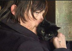 Norman Reedus and Cat - So adorable
