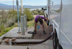 RV dump station procedures tips and tricks