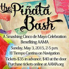 Celebrate Cinco de Mayo at AAMA's Piñata Bash on Sunday, May 3, 2015 – Hispanic Houston http://ow.ly/M5KxZ #hispanichou #houstonevents