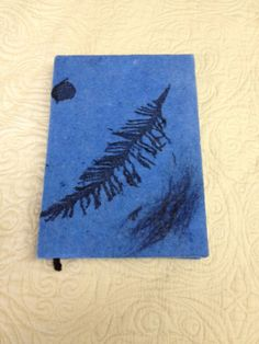 Handmade A5 size 100 pages Felted cover Notebook  Blue by Astafds, €25.00