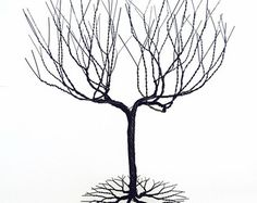Black large Jewelry Tree Stand wire tree sculpture perfect for