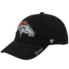 '47 Brand Denver Broncos Ladies Sparkle Slouch Adjustable Hat - Navy Blue