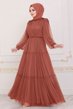 Modest Fashion Hijab, Abaya Fashion, Skirt Fashion, Fashion Dresses, Indian Gowns Dresses, Lace Party Dresses, Hijab Dress Party, Muslim Women Fashion, Islamic Fashion
