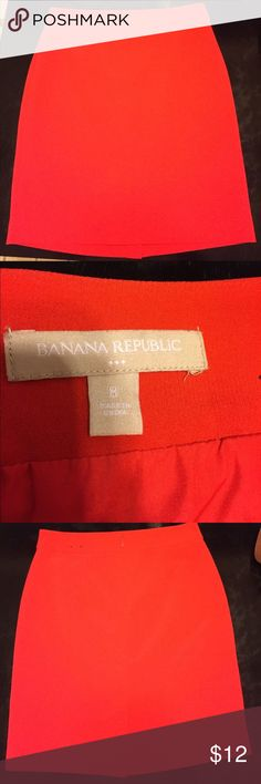 "Perfect Banana Republic true red pencil skirt An absolute must! Lovely red pencil skirt from BR Factory. Size 8. Classic!                                                                                  The measurements are taken lying flat.  Waist: 15.5"". Length: about 21"".  It is lined.  Shipped promptly from a nonsmoking home! ❤️💕 Banana Republic Skirts Pencil"