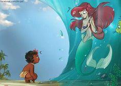 Moana: Encounters Best of Disney Art by Fra-Gai Disney And Dreamworks, Disney Pixar, Walt Disney, Ariel Disney, Disney Star Wars, Disney Magic, Disney Characters, Images Disney, Disney Pictures