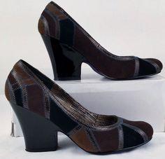 Bobbi Blu Multi-Color Suede High Heels 8.5 Medium Womens Used #BobbiBlu #PumpsClassics #WeartoWork