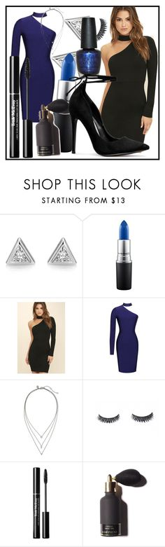 """Blue"" by brikena-kena ❤ liked on Polyvore featuring MAC Cosmetics, LULUS, Banana Republic and OPI"