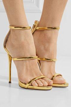 f89ec14cb6d5b Giuseppe Zanotti - Harmony Metallic Leather Sandals - Gold - IT