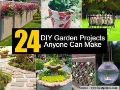 24 DIY Garden Projects Anyone Can Make...For more creative tips and ideas FOLLOW https://www.facebook.com/homeandlifetips
