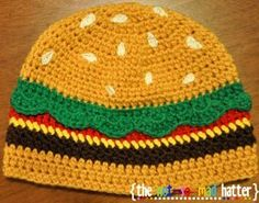 Hamburger Hat | This time it IS acceptable to play with your food #CraftyNotBored
